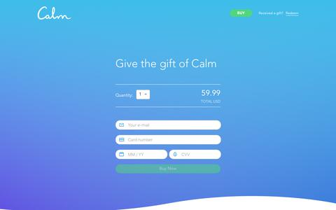 Calm - Give the Gift of a Calmer Mind