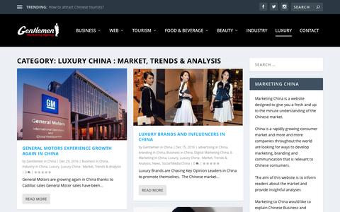Luxury China : Market, Trends & Analysis Archives - Marketing China