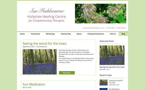 Screenshot of Blog hollytreehealing.co.uk - hollytreehealing   Blog - captured Nov. 11, 2016