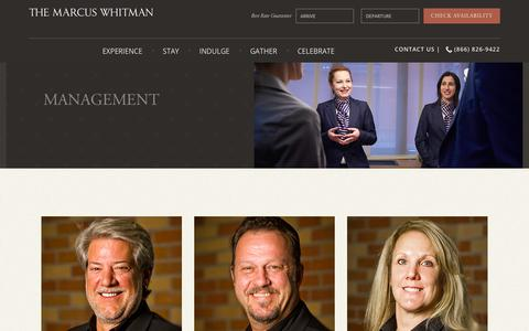 Screenshot of Team Page marcuswhitmanhotel.com - Management at Marcus Whitman Hotel | Walla Walla Hotels - captured Sept. 24, 2018