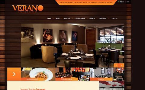 Screenshot of Home Page veranogourmet.com.br - Verano Gourmet - captured Sept. 1, 2015