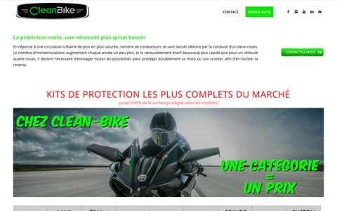 Screenshot of Home Page clean-bike.com - CLEAN-BIKE | 1er centre de cosmétique moto - captured July 18, 2018