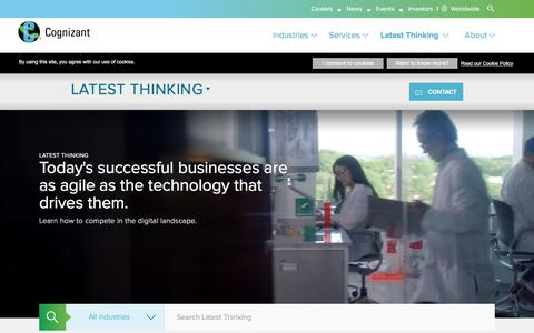 Latest Thinking | Cognizant Technology Solutions