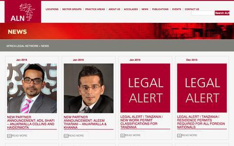 Screenshot of Press Page africalegalnetwork.com - News » Africa Legal Network - captured Feb. 7, 2016