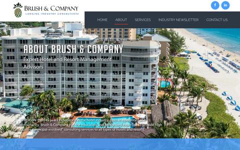 Screenshot of About Page brush-and-company.com - Brush & Company - captured Oct. 7, 2018
