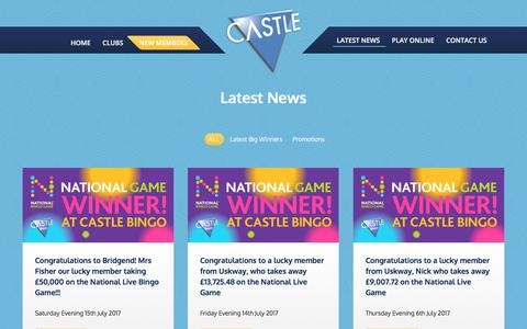 Screenshot of Press Page castlebingo.co.uk - Latest News – Castle Bingo - captured July 17, 2017