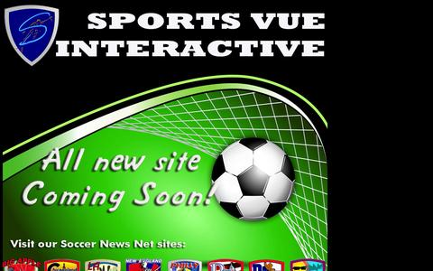 Screenshot of Home Page sportsvue.net - Sports Vue Interactive - captured Oct. 7, 2014