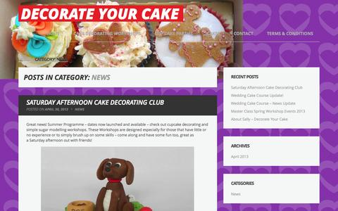 Screenshot of Press Page decorateyourcake.co.uk - News Archives - Decorate Your Cake - captured Sept. 30, 2014