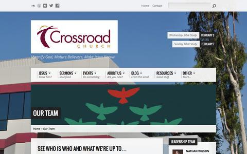 Screenshot of Team Page crossroadoc.org - Our Team - CrossroadOC.org - captured Feb. 1, 2016