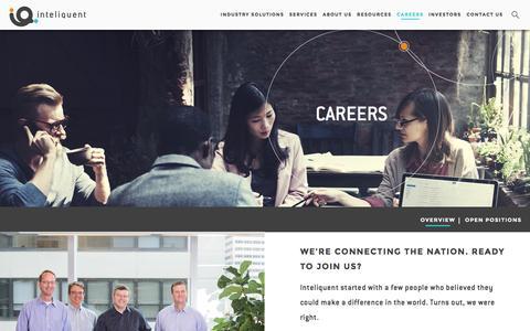 Screenshot of Jobs Page inteliquent.com - Inteliquent | Careers - captured Aug. 6, 2016