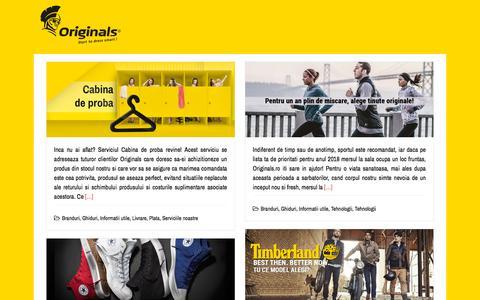 Screenshot of Blog originals.ro - Blogul Originals - captured Nov. 5, 2019