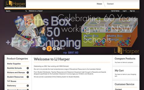 Screenshot of Testimonials Page ljharper.com.au - Educational Supplies and Resources - captured Oct. 1, 2014