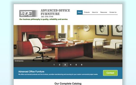 Screenshot of Home Page Menu Page advancedofficefurniture.com - Advanced Office Furniture | New Office Furniture and More on AdvancedOfficeFurniture.com - captured Sept. 30, 2014