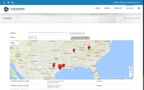 Screenshot of Locations Page vergemobile.com - Locations – Verge Mobile - captured Dec. 2, 2016