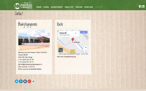 Screenshot of Contact Page menkenvandenassem.nl - Contact – Menken van den Assem - captured Nov. 19, 2016