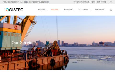 Screenshot of Services Page logistec.com - Services | Logistec - captured Sept. 29, 2018