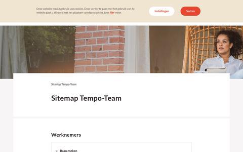 Sitemap Tempo-Team