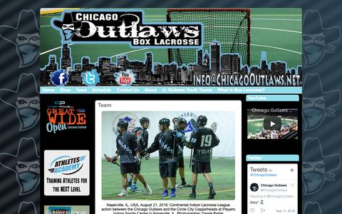 Screenshot of Team Page chicagooutlaws.net - Team : Chicago Outlaws - captured Sept. 27, 2018