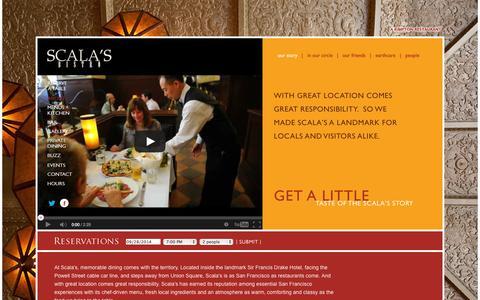 Screenshot of About Page scalasbistro.com - Italian Restaurant & Bar near San Francisco's Union Square   Scala's Bistro - captured Sept. 30, 2014