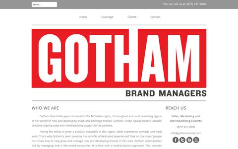 Screenshot of Home Page gothambrands.com - Who We Are | GothamGotham | NYC Brand Managers - captured Oct. 3, 2014