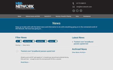 Screenshot of Press Page hm-network.com - News | HM Network - captured Oct. 6, 2014