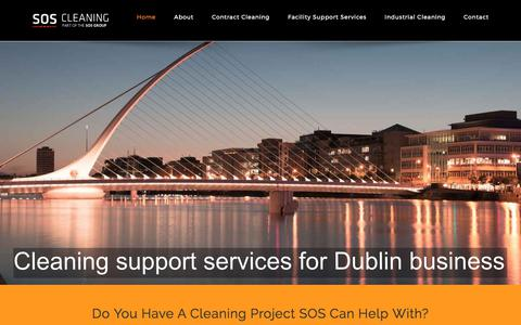 Screenshot of Home Page sosps.ie - SOS Cleaning Services-Office Cleaning Dublin,Contract Cleaning Dublin-Cleaning Services Dublin,Industrial cleaning Dublin - captured Sept. 30, 2017