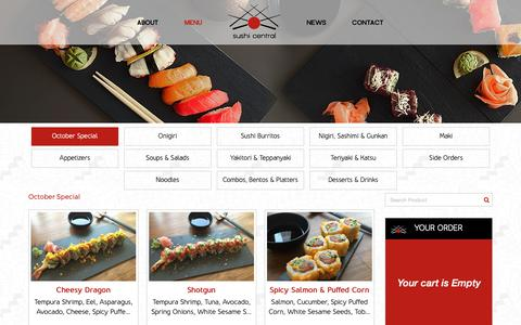 Screenshot of Menu Page sushicentral.ae - Japanese Sushi Menu - Sushi Central - captured Oct. 18, 2018