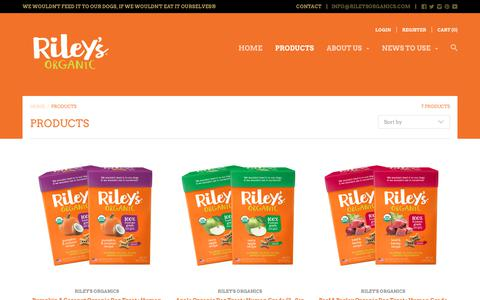 Screenshot of Products Page rileysorganics.com - Products – Riley's Organics - captured Oct. 22, 2017
