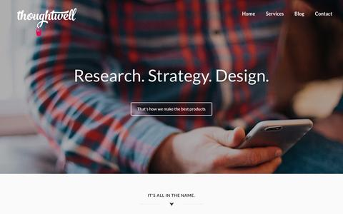 Screenshot of Home Page thoughtwell.com.au - Home – Thoughtwell PTY LTD – Research Strategy and Design - captured Oct. 21, 2018