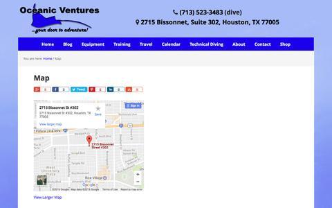 Screenshot of Maps & Directions Page oceanicventures.com - Map - Houston's Premier Scuba and Dive Shop Oceanic Ventures Inc. - captured Dec. 19, 2016