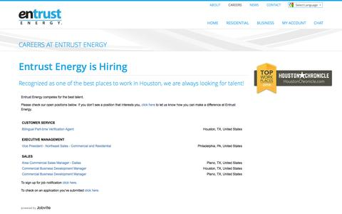 Entrust Energy - Entrust Energy is Hiring