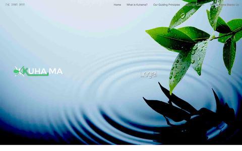 Screenshot of Terms Page kuha.ma - Kuhama: Your Socially-Integrated Marketing Automation Platform - captured Oct. 8, 2014