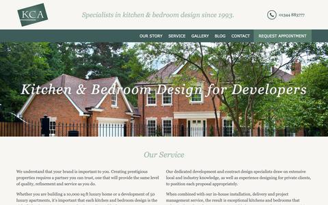 Screenshot of Developers Page k-c-a.co.uk - Kitchen & Bedroom Design for Developers | KCA - captured Oct. 14, 2018