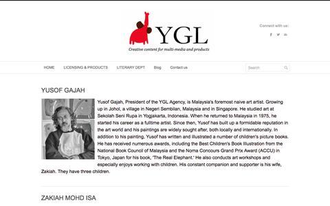 Screenshot of About Page Team Page yusofgajahlingard.com - Our Team - Yusof Gajah Lingard Literary Agency - captured Feb. 17, 2016