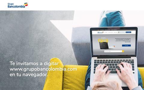 Screenshot of Home Page 169.62.185.109 - www.grupobancolombia.com - captured July 11, 2019
