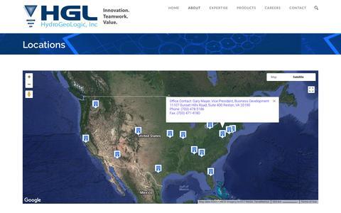 Screenshot of Locations Page hgl.com - Locations – HGL - captured Sept. 20, 2017