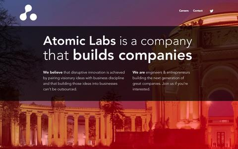 Screenshot of Home Page atomicmgmt.com - Atomic Labs - captured Oct. 4, 2014