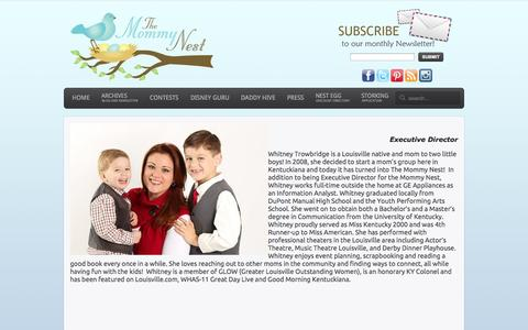 Screenshot of About Page themommynest.com - The Mommy Nest - About Us - captured Nov. 2, 2014