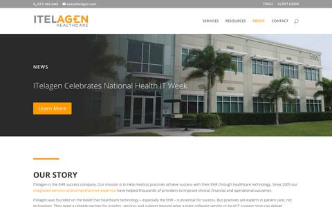 Screenshot of About Page itelagen.com - About | ITelagen® - captured Oct. 19, 2018