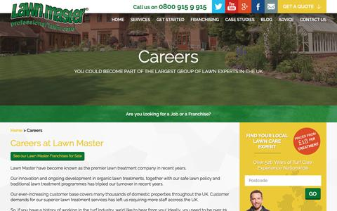 Screenshot of Jobs Page lawnmaster.co.uk - Lawn Care Careers with Lawn Master - captured July 16, 2018
