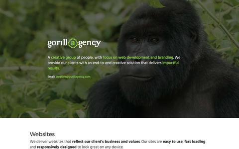 Screenshot of Home Page gorillagency.com - Gorillagency - captured May 22, 2017
