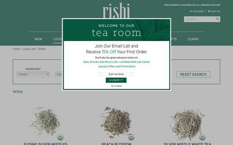 Organic White Tea | Rishi-Tea.com