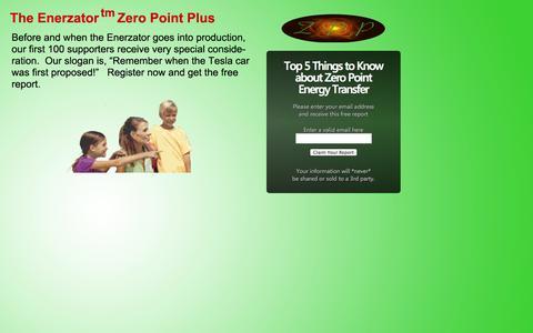 Screenshot of Signup Page zeropointenergytransfer.com - Free Zero Point Report - captured Nov. 3, 2014