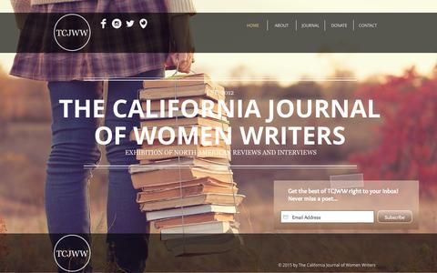 Screenshot of Home Page tcjww.org - The California Journal of Women Writers - captured Aug. 14, 2015