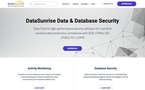 DataSunrise Data and Database  Security