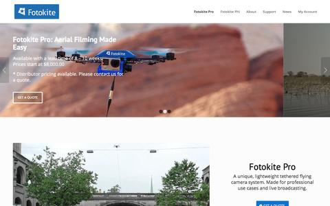 The Fotokite Pro: Unlimited flight time and 1080p aerial live stream