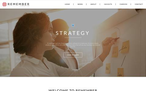 Screenshot of Home Page remembercreative.com - Home - Remember Creative - captured Sept. 20, 2018