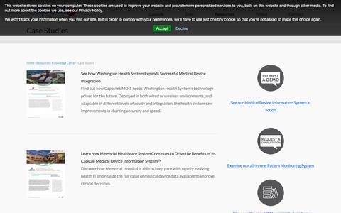 Screenshot of Case Studies Page capsuletech.com - Case Studies | Capsule - captured July 12, 2018