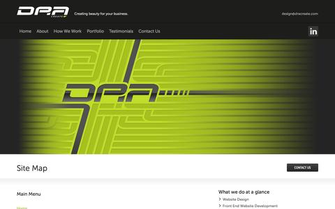 Screenshot of Site Map Page dracreate.com - Site Map | Web Design Agency London, Web Design Essex, DRA Create Ltd. - captured Oct. 5, 2014