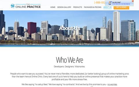 Screenshot of About Page Contact Page theonlinepractice.com - Dental About Us | Dental Web Design | About Us  | BaystoneMedia.com - captured Feb. 12, 2016